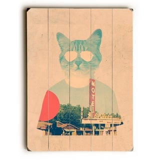 Cool Cat - Multi  Planked Wood Wall Decor by Ali Gulec