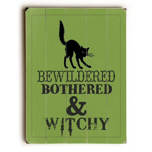 Bewitched - Planked Wood Wall Decor by WildApple - Katie Pertiet
