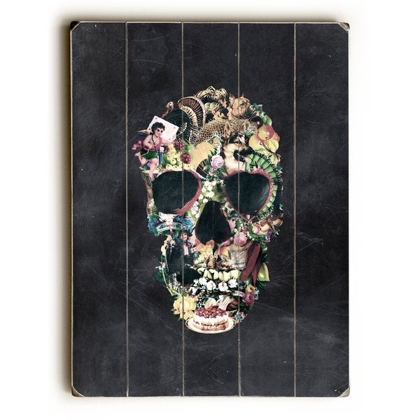 Vintage Skull - Multi Planked Wood Wall Decor by Ali Gulec