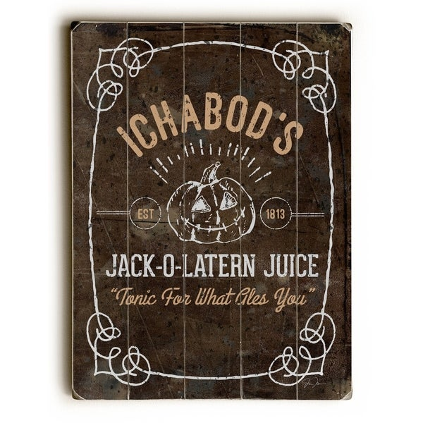 Jack Juice - Planked Wood Wall Decor by Dave Diller