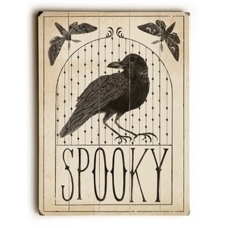 Hocus Pocus - Spooky -  Planked Wood Wall Decor by WildApple - Sara Zieve Miller