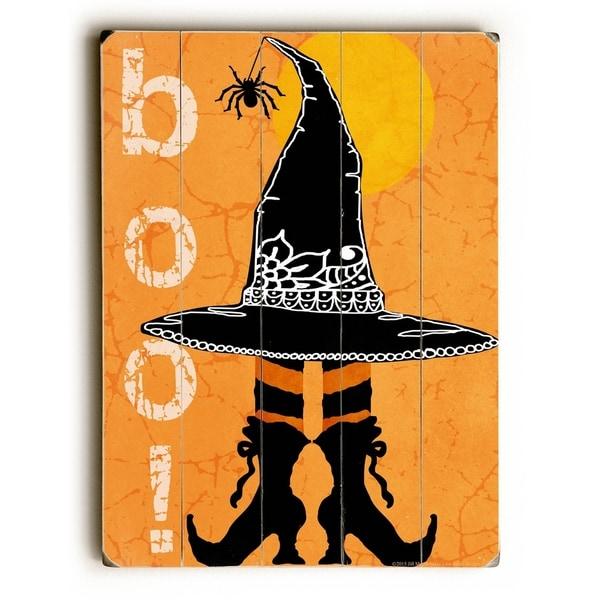 Boo! - Planked Wood Wall Decor by Mainline Art - Jill Meyer