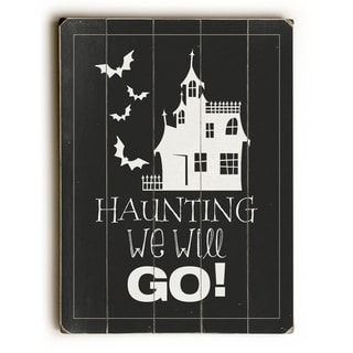 Haunting -  Planked Wood Wall Decor by WildApple - Katie Pertiet