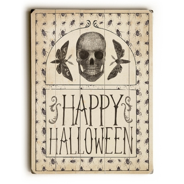 Hocus Pocus - Happy Halloween - Planked Wood Wall Decor by WildApple - Sara Zieve Miller