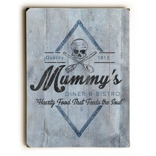 Mummy's Diner -  Planked Wood Wall Decor by Dave Diller
