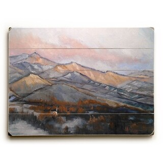 Cold Mountains -  Planked Wood Wall Decor by  Carol Schiff