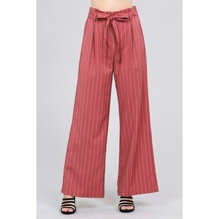 JED Women's Pinstripe High Waisted Wide Leg Woven Pants