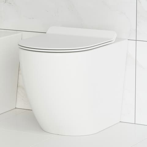 St. Tropez Back to Wall Concealed Tank Toilet Bowl