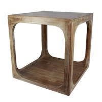 Urban Designs Alton Brown Natural Wood Accent Side Table