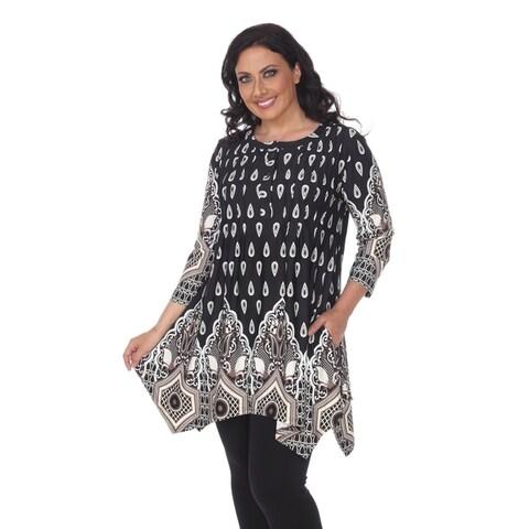 White Mark Women's Plus Size Kairi Tunic/Top
