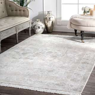 Link to Gracewood Hollow Mokeddem Vintage Fringed Floral Area Rug Similar Items in Farmhouse Rugs