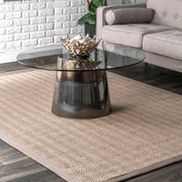 Porch & Den Howard Braided Natural Sisal Area Rug - 9' x 12'