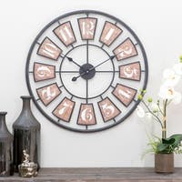Matthews Large Metal Wall Clock - N/A