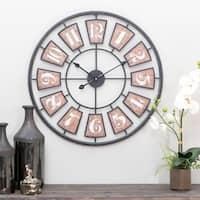 The Gray Barn Jartop Large Metal Wall Clock