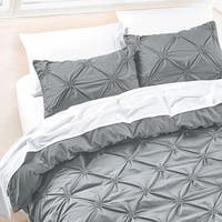 Diamond Pintuck Duvet Cover Set