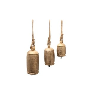 Melodious 3 piece Metal Rope Animal-Harmony Bell, Gold