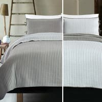Reversible Cross Stitch Coverlet Set