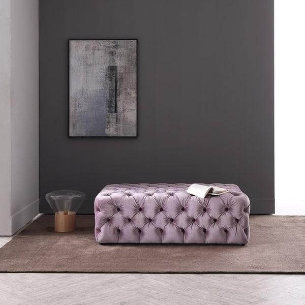 Fine Shop Divani Casa Spiegel Transitional Purple Velvet Tufted Lamtechconsult Wood Chair Design Ideas Lamtechconsultcom