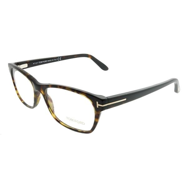 cf0e9cab8330 Tom Ford Rectangle FT 5405 052 Women Dark Havana Frame Eyeglasses