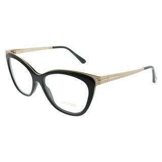 ad9d27708b3 Tom Ford Cat-Eye FT 5374 001 Women Shiny Black Gold Frame Eyeglasses