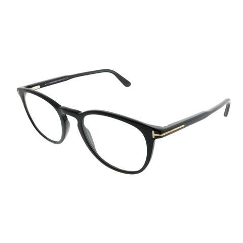 2b9d2a30326 Tom Ford Round FT 5401 001 Unisex Shiny Black Frame Eyeglasses