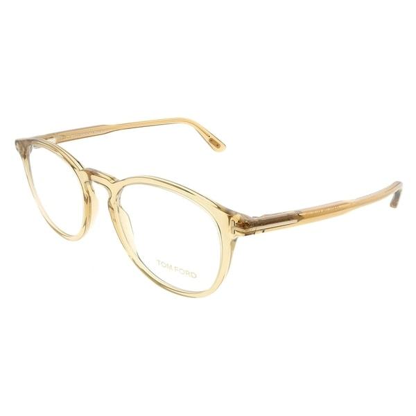 60ce720c3e385 Tom Ford Round FT 5401 045 Unisex Transparent Brown Frame Eyeglasses
