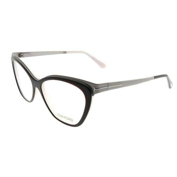cbb4cb824c2 Tom Ford Cat-Eye FT 5374 050 Women Dark Brown Ruthenium Frame Eyeglasses