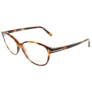 Tom Ford Cat-Eye FT 5421 053 Women Blonde Havana Frame Eyeglasses