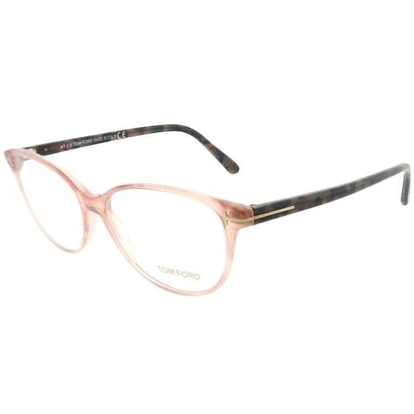 5057994fd547 Shop Tom Ford Cat-Eye FT 5421 074 Women Pink Frame Eyeglasses - Free ...