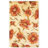 KAS Catalina Ivory Poppies Rug - 5' x 8'