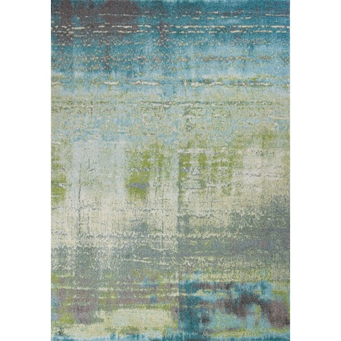 KAS Illusions Blue/Green Escape Rug