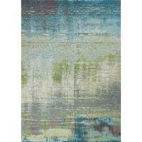 KAS Rugs Illusions Blue/Green Escape Area Rug - 6'7 x 9'6