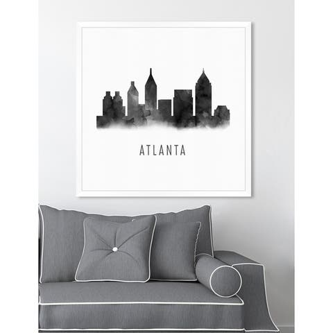Oliver Gal 'Atlanta Watercolor'Framed Art