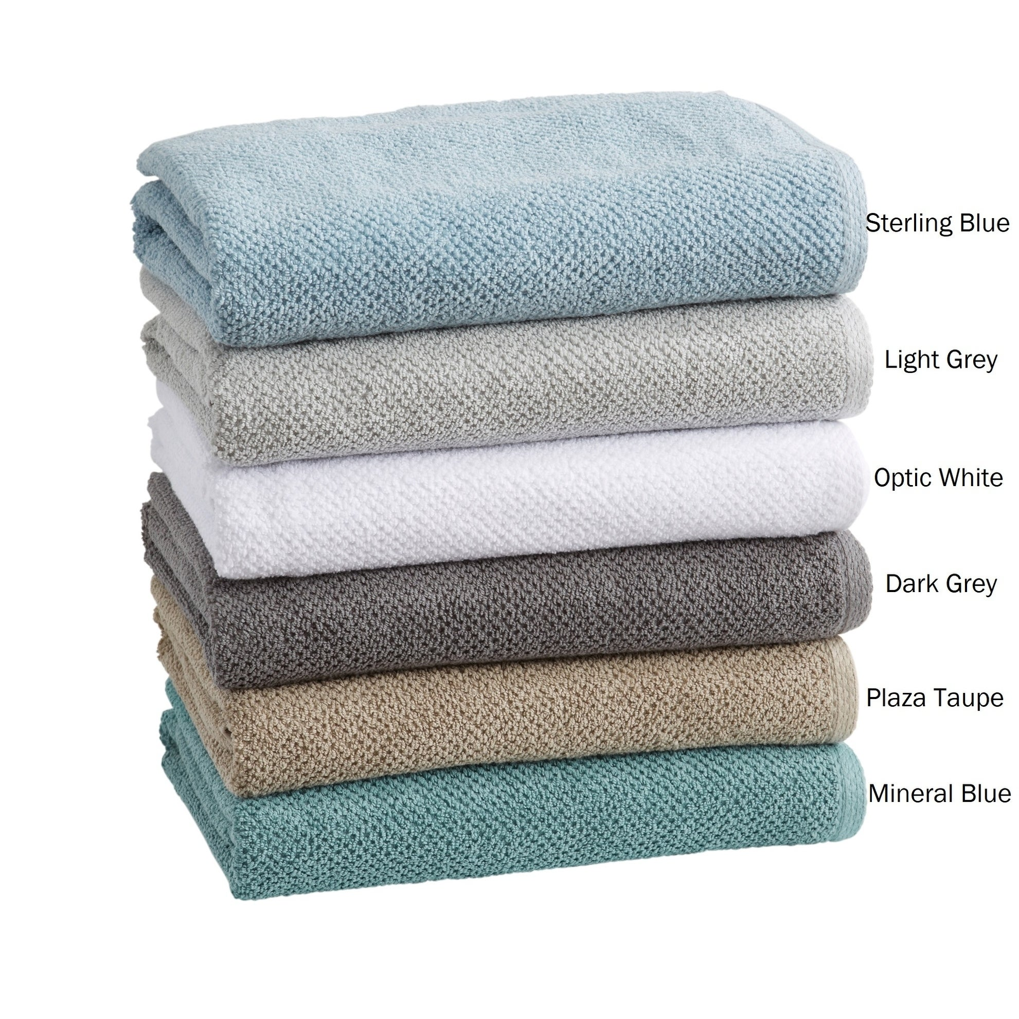 Acacia Collection 100 Cotton Ultra Absorbent Popcorn Bath Towels