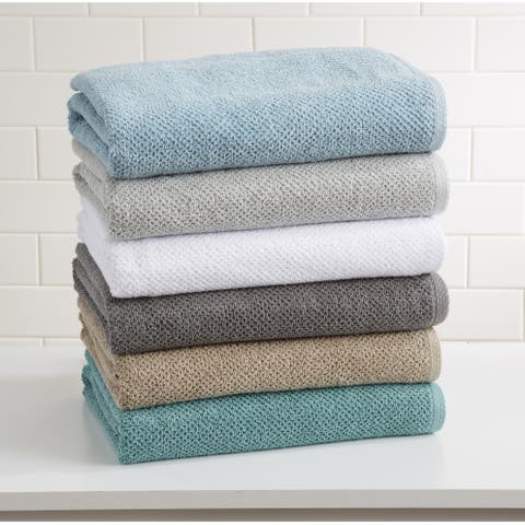100% Cotton Acacia Collection Ultra Absorbant Popcorn Bath Towels