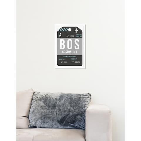 Oliver Gal 'Boston Luggage Tag'Framed Art
