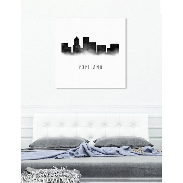 Shop Oliver Gal \'Portland Watercolor\' Industrial Cityscapes Canvas ...