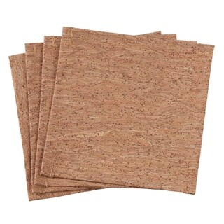 Cork And Poly Blend Coasters (Set of 4)