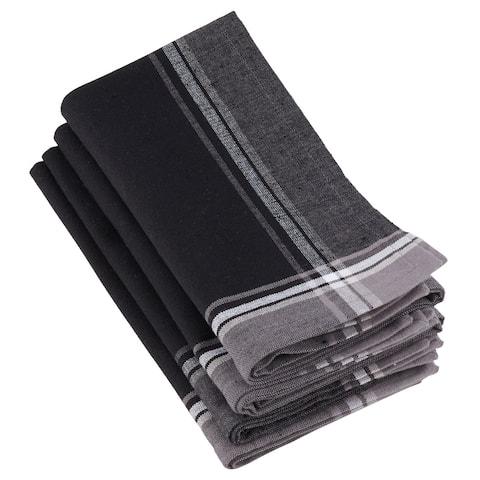 100% Cotton Stripe Border Design Table Napkins (Set of 4)