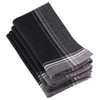 100% Cotton Stripe Border Design Table Napkins (Set of 4)