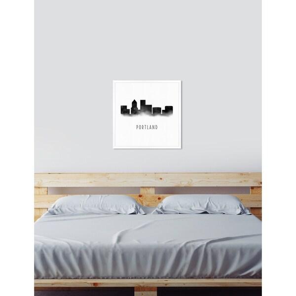 Shop Oliver Gal \'Portland Watercolor\'Framed Art - Black, White - On ...