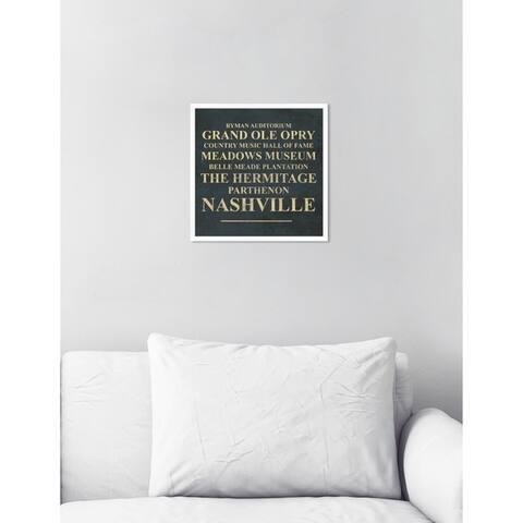Oliver Gal 'Nashville Landmarks'Framed Art