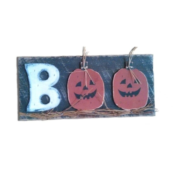 15ea569368b Shop Fall Harvest Decorative Halloween BOO Sign - Free Shipping Today -  Overstock - 22837617