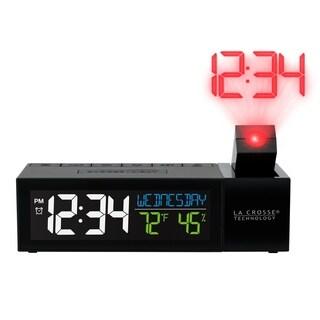 La Crosse Technology 616-1950-INT Projection Digital Alarm Clock with USB Charging Port