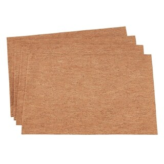 """Table Mats With Cork And Poly Blend (Set of 4) - 13""""x19"""""""