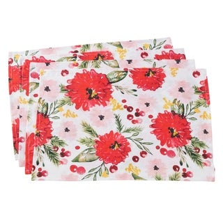 """Floral Design Linen Placemats (Set of 4) - 14""""x20"""""""