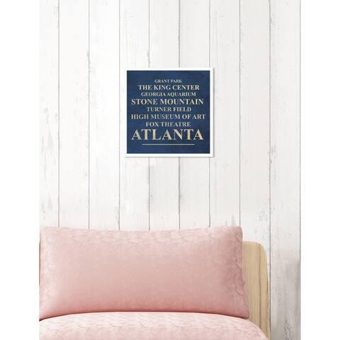Oliver Gal 'Atlanta Landmarks'Framed Art
