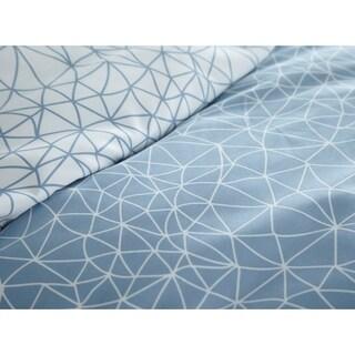 Vilano Choice 3-piece Geometric Maze Printed Reversible Duvet Cover Set