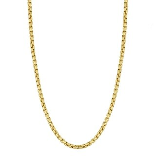 Fremada 14k Yellow Gold 1.8 millimeters Round Box Chain Necklace