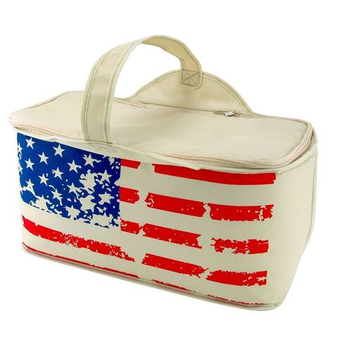 TrailWorthy Patriotic Stars and Stripes Leak Proof Cooler Bag